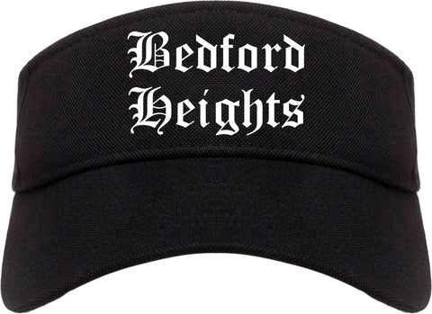 Bedford Heights Ohio OH Old English Mens Visor Cap Hat Black
