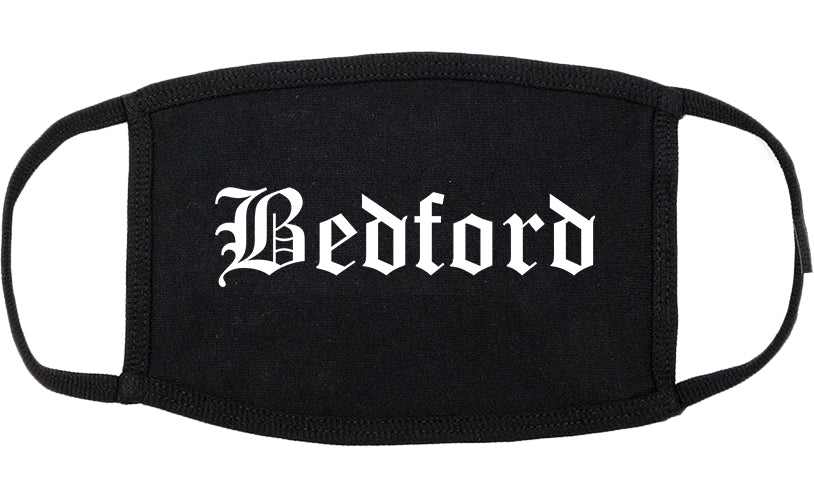 Bedford Indiana IN Old English Cotton Face Mask Black