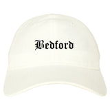 Bedford Indiana IN Old English Mens Dad Hat Baseball Cap White