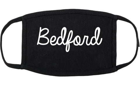 Bedford Virginia VA Script Cotton Face Mask Black