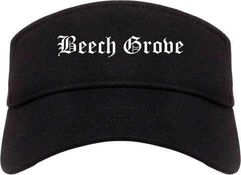 Beech Grove Indiana IN Old English Mens Visor Cap Hat Black