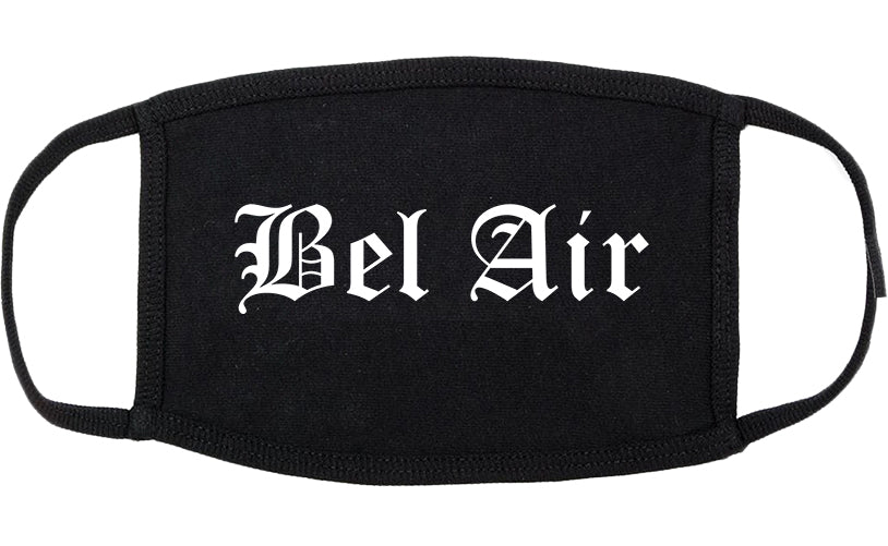 Bel Air Maryland MD Old English Cotton Face Mask Black