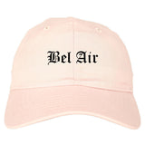Bel Air Maryland MD Old English Mens Dad Hat Baseball Cap Pink