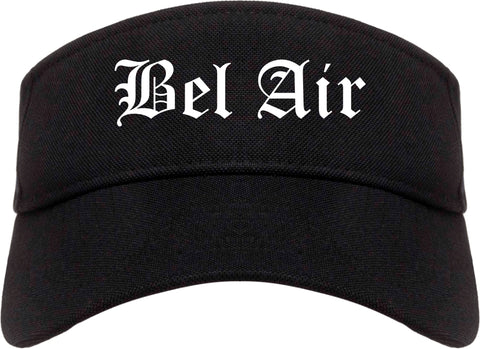 Bel Air Maryland MD Old English Mens Visor Cap Hat Black