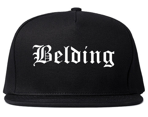 Belding Michigan MI Old English Mens Snapback Hat Black