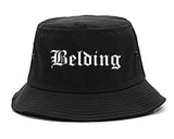 Belding Michigan MI Old English Mens Bucket Hat Black