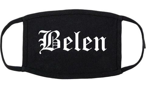 Belen New Mexico NM Old English Cotton Face Mask Black