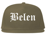 Belen New Mexico NM Old English Mens Snapback Hat Grey