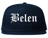 Belen New Mexico NM Old English Mens Snapback Hat Navy Blue