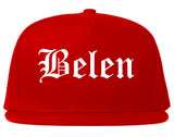 Belen New Mexico NM Old English Mens Snapback Hat Red