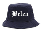 Belen New Mexico NM Old English Mens Bucket Hat Navy Blue