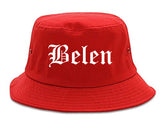 Belen New Mexico NM Old English Mens Bucket Hat Red