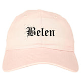 Belen New Mexico NM Old English Mens Dad Hat Baseball Cap Pink