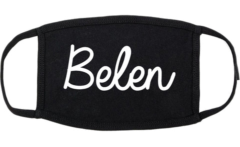 Belen New Mexico NM Script Cotton Face Mask Black