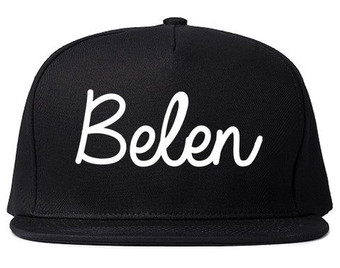 Belen New Mexico NM Script Mens Snapback Hat Black