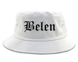 Belen New Mexico NM Old English Mens Bucket Hat White