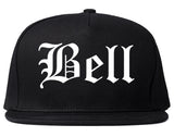Bell California CA Old English Mens Snapback Hat Black