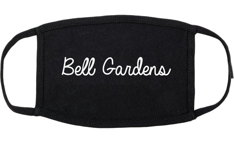 Bell Gardens California CA Script Cotton Face Mask Black