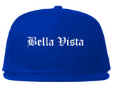 Bella Vista Arkansas AR Old English Mens Snapback Hat Royal Blue