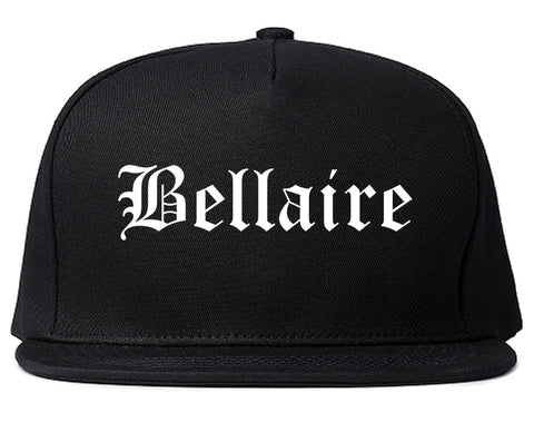 Bellaire Ohio OH Old English Mens Snapback Hat Black