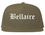 Bellaire Ohio OH Old English Mens Snapback Hat Grey
