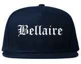 Bellaire Ohio OH Old English Mens Snapback Hat Navy Blue