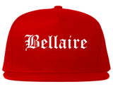 Bellaire Ohio OH Old English Mens Snapback Hat Red