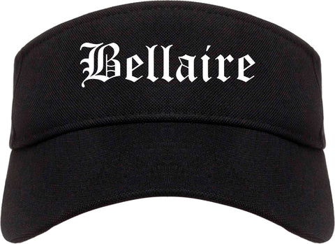 Bellaire Ohio OH Old English Mens Visor Cap Hat Black