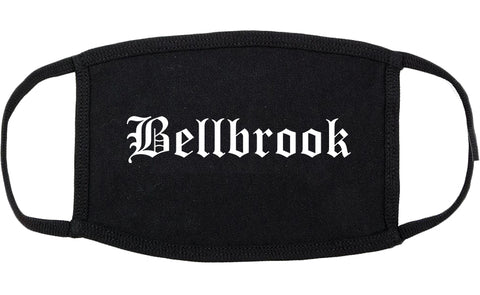 Bellbrook Ohio OH Old English Cotton Face Mask Black