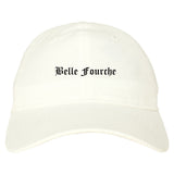 Belle Fourche South Dakota SD Old English Mens Dad Hat Baseball Cap White