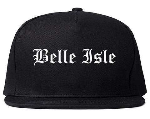 Belle Isle Florida FL Old English Mens Snapback Hat Black