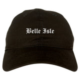 Belle Isle Florida FL Old English Mens Dad Hat Baseball Cap Black