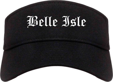 Belle Isle Florida FL Old English Mens Visor Cap Hat Black