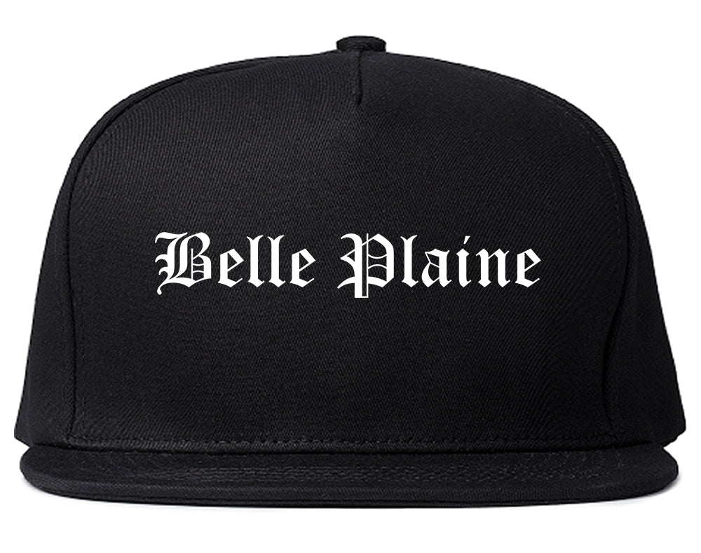 Belle Plaine Minnesota MN Old English Mens Snapback Hat Black