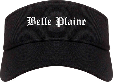 Belle Plaine Minnesota MN Old English Mens Visor Cap Hat Black