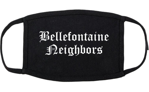 Bellefontaine Neighbors Missouri MO Old English Cotton Face Mask Black