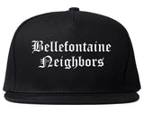 Bellefontaine Neighbors Missouri MO Old English Mens Snapback Hat Black