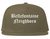 Bellefontaine Neighbors Missouri MO Old English Mens Snapback Hat Grey