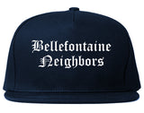Bellefontaine Neighbors Missouri MO Old English Mens Snapback Hat Navy Blue