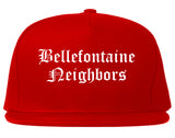Bellefontaine Neighbors Missouri MO Old English Mens Snapback Hat Red