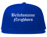 Bellefontaine Neighbors Missouri MO Old English Mens Snapback Hat Royal Blue