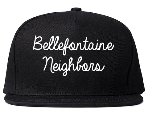 Bellefontaine Neighbors Missouri MO Script Mens Snapback Hat Black