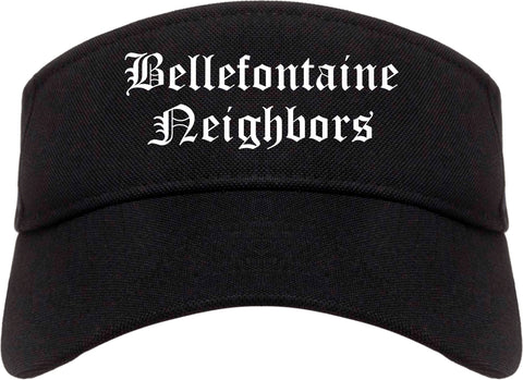 Bellefontaine Neighbors Missouri MO Old English Mens Visor Cap Hat Black