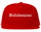 Bellefontaine Ohio OH Old English Mens Snapback Hat Red