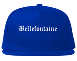 Bellefontaine Ohio OH Old English Mens Snapback Hat Royal Blue