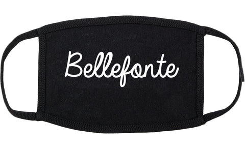 Bellefonte Pennsylvania PA Script Cotton Face Mask Black