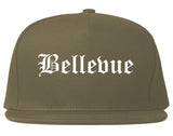 Bellevue Kentucky KY Old English Mens Snapback Hat Grey