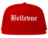 Bellevue Washington WA Old English Mens Snapback Hat Red