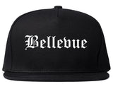 Bellevue Wisconsin WI Old English Mens Snapback Hat Black