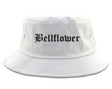 Bellflower California CA Old English Mens Bucket Hat White